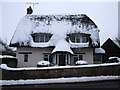 SU1490 : Thatched cottage, 47 High Street, Broad Blunsdon by Vieve Forward