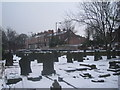 SE5803 : View across the churchyard, Christ Church, Doncaster by Jonathan Thacker