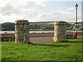 SX9272 : Entrance pillars seen from St George's Field by Robin Stott