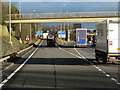 SP1678 : Northbound M42 at Junction 5 by David Dixon