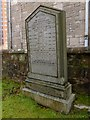 NS3975 : Dumbarton West Kirk: the MacAuslan Memorial by Lairich Rig