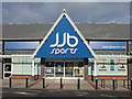SJ3563 : 'jjb sports', Broughton? by John S Turner