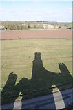 SO8842 : Shadow of Dunstall Castle by Philip Halling