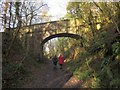 SX8079 : Bridge over the railway path, Parke by Derek Harper