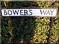 TL1314 : Bowers Way sign by Adrian Cable