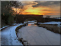 SD7908 : Withins Bridge at Sunset by David Dixon
