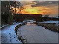 SD7908 : Withins Bridge at Sunset by David Dixon