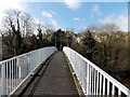 ST3089 : Across the southernmost Malpas Road footbridge, Crindau, Newport by John Grayson