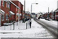 SK7080 : Thrumpton Lane in the snow by roger geach