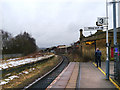 SJ5795 : Platform 3, Earlestown Station by David Dixon