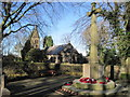 SJ9585 : High Lane church and war memorial by Nigel Thompson