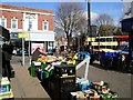 TQ2805 : Market Stall in George Street, Hove by Paul Gillett