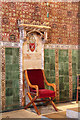 TQ3190 : St Mark, Noel Park - Bishop's throne by John Salmon