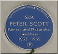 TF4925 : Blue plaque on the East Lighthouse by Mat Fascione