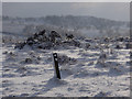 SK2874 : Ramsley Moor in winter conditions by Andrew Hill