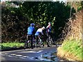 TQ1727 : Cyclists on New Year's Day near Horsham by nick macneill