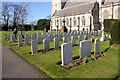 SJ0075 : Military Graves at St.Margaret's, Bodelwyddan by Jeff Buck