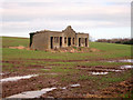 NU0443 : Derelict building in arable field, north of Haggerston by Graham Robson