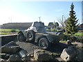 ST2881 : Ferret armoured car outside Greenmoor Nurseries by Jeremy Bolwell