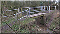 TL8404 : Footbridge over Stream by Roger Jones