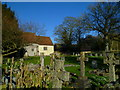 SU2946 : Churchyard at Fyfield with snowdrops by Shazz