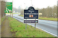 J2385 : &quot;Welcome&quot; sign, Templepatrick by Albert Bridge