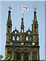 SP2864 : St Mary's Church tower, detail by Robin Stott