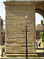 SP2864 : Pillar of Arden Sandstone, St Mary's Church tower by Robin Stott