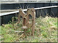 ST3037 : Bridgwater - steam engine remains by Chris Allen
