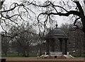TQ3479 : Bandstand through winter trees, Southwark Park SE16 by R Sones