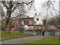 SJ8597 : Church Inn at Ardwick Green by Gerald England