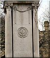 SJ8597 : Ardwick Green War Memorial E side (France) detail by Gerald England