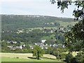 SK2474 : Calver Village, Calver Mill and Froggatt Edge, from Hassop Road, near Calver by Terry Robinson