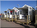 SD3228 : Beach huts in St Annes by philip banks