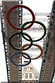 TQ3380 : Olympic rings on Tower Bridge by Steve Daniels