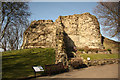 SE4622 : Pontefract Castle keep by Richard Croft