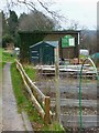 SU4512 : Entrance path for Bitterne West Allotments by Shazz