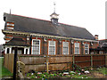 TQ2870 : St Barnabas church hall, Mitcham: rear by Stephen Craven
