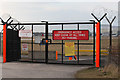 SJ8283 : Emergency Access Gate No 4 by Andrew Whale