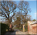 SJ3570 : Gates to Shotwick Park by Des Blenkinsopp