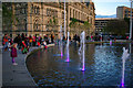 SE1632 : The mirror pool, City Park, Bradford by Phil Champion