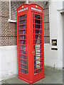 TQ2682 : Telephone Box outside Flats in Hall  Road, NW8 by David Hillas