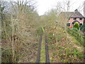SJ9493 : Old railway trackbed (1) by John Topping