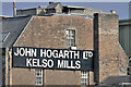 NT7233 : John Hogarth Ltd sign at Kelso by Walter Baxter