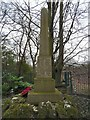SJ9694 : Godley Hill War Memorial (Right hand side) by Gerald England