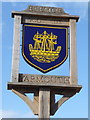SZ3589 : Yarmouth: close-up of the town sign by Chris Downer