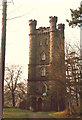 SK0643 : Flag tower at Alton Towers by Alan Terrill