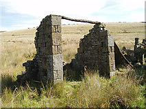 SD9433 : Ruin at Greave. Widdop, Hebden Bridge by Wayne Ogden