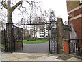 TQ3082 : Gates to St Andrew's Gardens by Stephen Craven