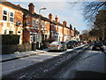 SO8554 : A dusting of snow on Stanley Road by Philip Halling